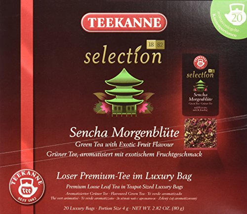 Teekanne Selection 1882 im Luxury Bag - Sencha Morgenblüte  -  mild, fruchtig, 20 Portionen, 1er Pack (1 x 80 g)