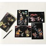 DHRH Scratch Art para Adultos y niños, niños Scratch Art Paper Painting Supplies Acuarela Paint Boys Girls, 2