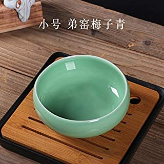 Ashtray, Longquan Celadon Ceramic Ashtray Creative Retro European-Style Multi-Functional Home Office Ornaments in Xian, Large Beige Ge Opening Piece (Do Line),Colour:M (Color : E)