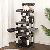 WLIVE Cat Tree for Large Cats,170 H x 60 W x 50 D