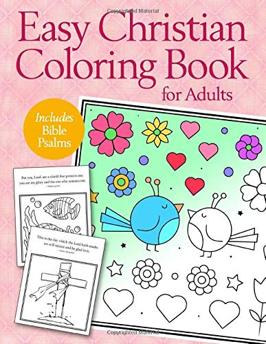 Easy Christian Coloring Book for Adults: Calming Large Print Psalms for Seniors and Beginners