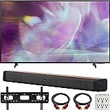 Samsung QN60Q60AAFXZA 60 Inch QLED 4K UHD Smart TV 2021 Bundle with Deco Home 60W 2.0 Channel Soundbar, 37-100 inch TV Wall Mount Bracket Bundle and 6-Outlet Surge Adapter