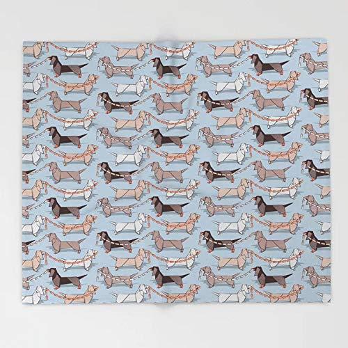 Mantas de Dibujos Animados de Perro Salchicha para sofá Lindo diseño de niños Mantas de Perro Salchicha de Origami Decoraciones navideñas para el hogar Manta Personalizada