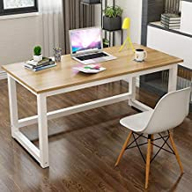 Computer Table, Home Office 1.2m Large Office Table Computer Table with 2.5cm Thicker Computer Desk Tabletop Modern Simple...