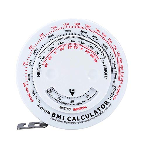 Knowled BMI Body Fat Tape Measure 150CM Maßband Einziehbare Figur Maßband approving
