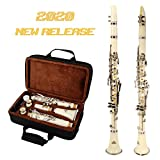 Best Student Clarinets - EastRock Clarinet Bb Flat 17 Nickel Keys,White Clarinet Review