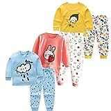XM-Amigo Juego de ropa interior térmica para bebé o niña, 3 piezas, ropa interior térmica para invierno, Girl01, 2 años