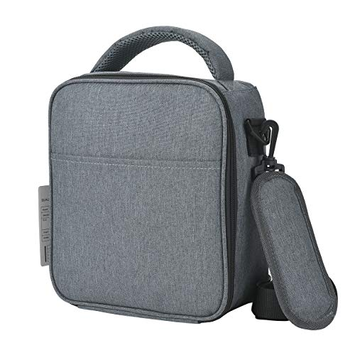 Lunch Box Insulated Lunch Bag for Men Women Soft Reusable Cooler Bag Best Teacher Appreciation Gifts for Men OZCHIN (Grey-W)