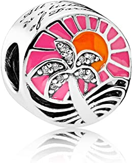 PANDORA - Tropical Sunset Charm in Sterling Silver with Mixed Enamel and Clear Cubic Zirconia