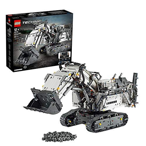 LEGOTechnicEscavatoreLiebherrR9800,SetdiCostruzioniAvanzatoControllatoconApp,MotoriInterattivieConnessioneBluetooth,42100