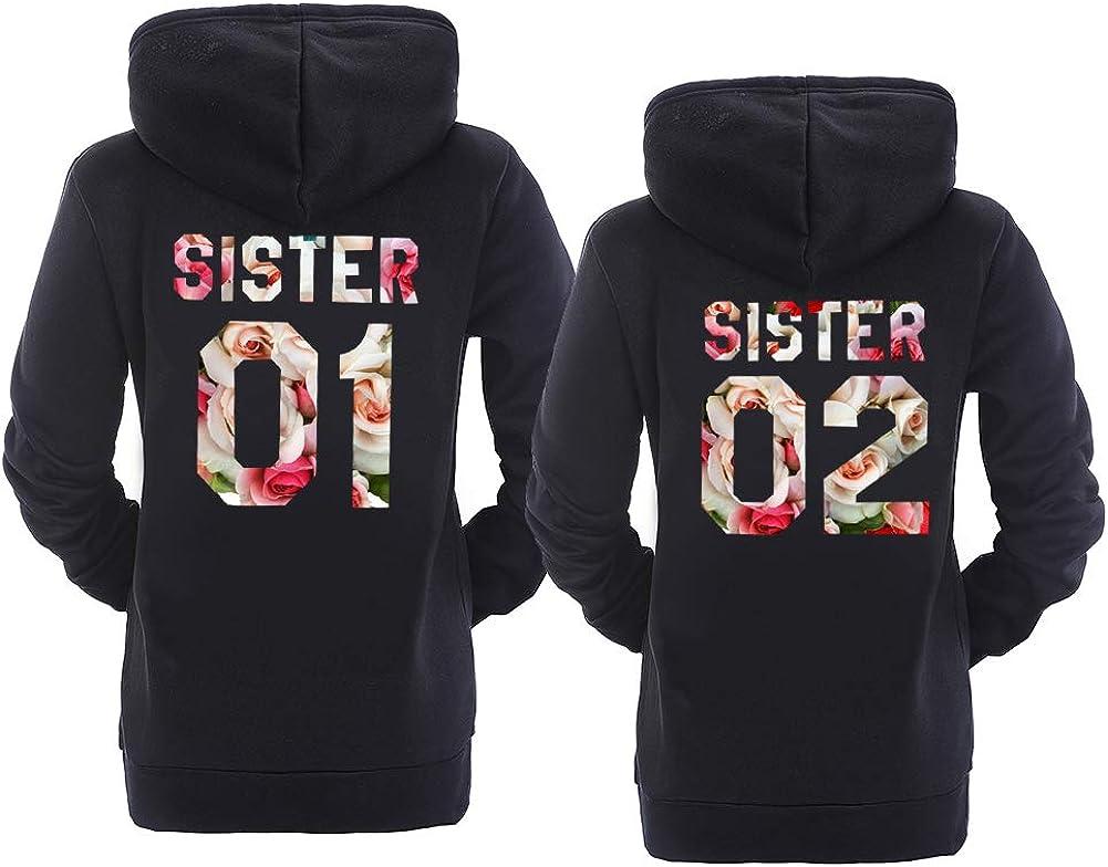 Best Friend Hoodies BFF Hoodies Matching Couple Hoodies Teen Girls Sister