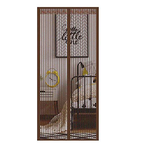 Filjr Cortina Mosquitera Magnética, 110x210cm Mosquiteras para Puertas Cierre automático Adsorción magnética, para Puertas Correderas/Balcones/Terraza丨marrón