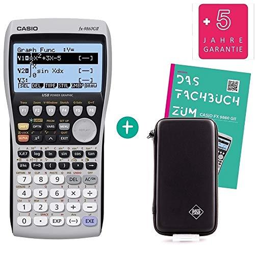 Casio FX 9860 GII + erweiterte Garantie + Safecase Schutztasche + Fachbuch
