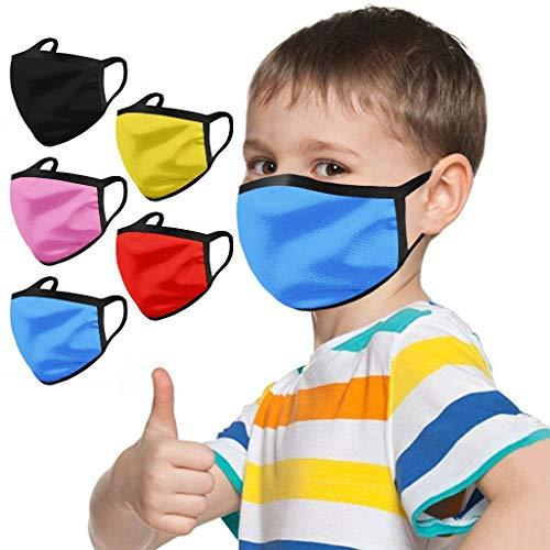 PPangUDing Mundschutz Waschbar mit Motiv Wiederverwendbar Baumwolle Atmungsaktive Staubdicht Mund und Nasenschutz Halstuch Bandana Schlauchschal für Jungen und Mädchen