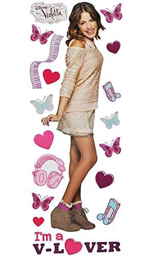 alles-meine.de GmbH großes Set: Wandtattoo / Wandsticker - Disney Mädchen Violetta - Aufkleber Wandaufkleber - Martina Stoessel Channel Schauspielerin / Poster - Postersticker St..