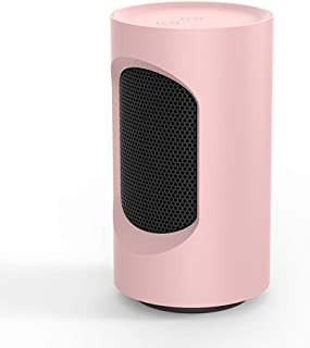 SXYRN Calentador De Cerámica PTC De 600 W, Elemento Calefactor PTC, Calentamiento De Giro De 40 °, Adecuado para Escritorios Y Mesas, Rosa