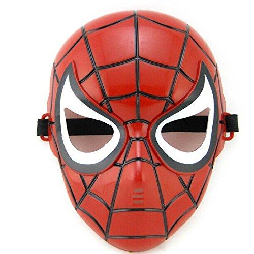 Inception Pro Infinite 5 - 8 Anni - Maschera per Costume - Travestimento - Carnevale - Halloween - Spiderman - Super Eroe - Uomo Ragno - Rosso - Bambi