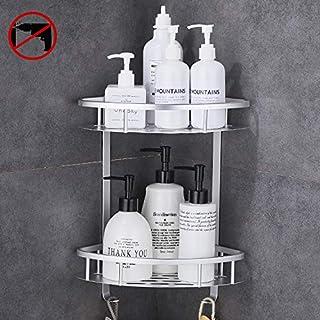 UMI von  Duschregal Badregal Duschablage Ohne Bohren Dusche Bad Wandregal Selbstklebend Ablage Wandmontage Halterung Aluminium Eloxiert A4028ADF