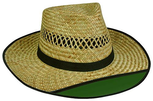 Outdoor Cap LD-902EX Beach Bum 2 Straw Hat with Green Visor