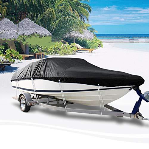 JTYX Funda para Barco Impermeable 11-24 Pies Cubierta para Barco De Barco Anti-UV Impermeable Resistente Al Agua 600D Accesorios para Barcos De Lona Remolcables Marinos