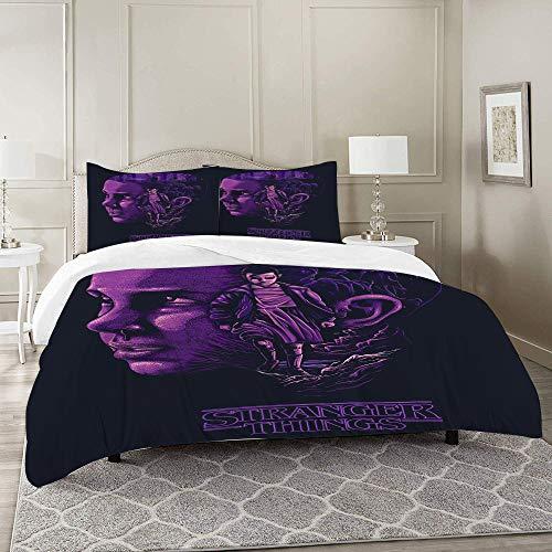 UFICTTFJ Duvet Cover Set-Bedding,Stranger things,for Single Double King Bed/Made of Ultra-Soft Microfiber