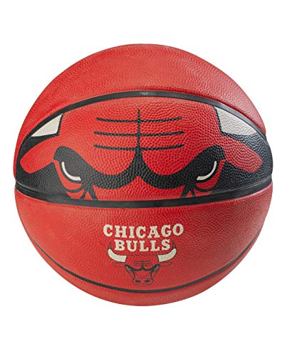 """Spalding NBA Chicago Bulls Courtside Rubber Basketball , Official NBA size and weight: Size 7, 29.5"""""""