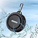Bluetooth Shower Speaker, Portable Speaker,Waterproof Handsfree Portable Wireless Shower Speaker,Build-in Microphone, Solid Suction Cup, 4 hrs Play Time, for Sport, Hiking, Camping, Beach, Pool(Black)