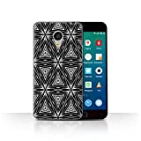 Phone Case for Meizu MX4 Pro Black Fashion Abstract Shapes