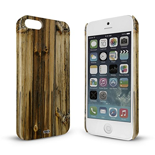 YOUNiiK Premium Case voor Apple iPhone 5 / 5S - houten plank - Phone Case Cover in unieke kwaliteit, randloos bedrukt en extreem krasbestendig
