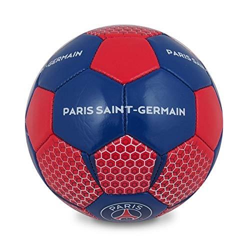 Paris Saint Germain - Fußball mit Wappen & Unterschriften - Offizielles Merchandise - Geschenk - Rot - Größe 1