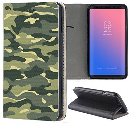 Handyhülle für Samsung Galaxy A5 2016 Premium Smart Einseitig Flipcover Flip Hülle Hülle Samsung A5 2016 A510 Motiv (314 Army Muster Tarn Farben)