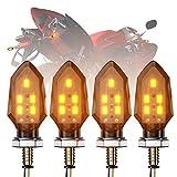 CCAUTOVIE 2Pcs Intermitentes Led Moto Luz Señal de Giro,Mini Intermitentes para Moto Homologados Ambar Giro Indicator Faros Intermitentes Delanteros E24 12V