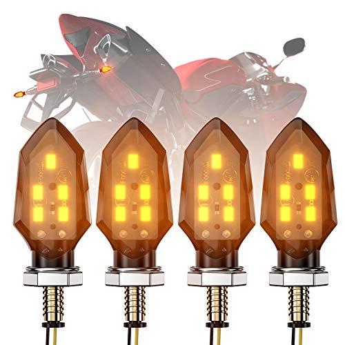 CCAUTOVIE 4PCS LED Indicatore di direzione Mini frecce Mini Direzione Light DC 12V Impermeabile Universale per Moto Moto Scooter E-Mark E24