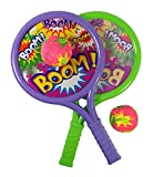 Liberty Imports Boom Drum Tennis Racket Sports Toy Set for Kids - Summer Beach Lawn Play Game Includes 2 Rackets and Soft Balls