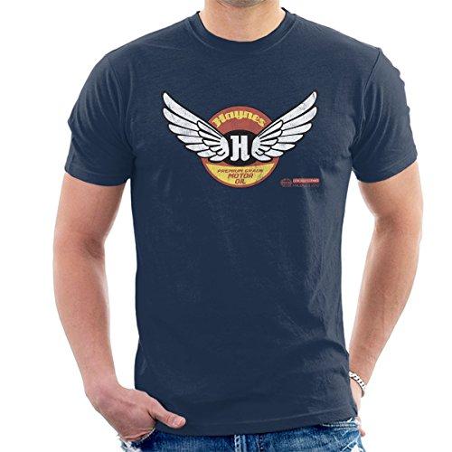 POD66 Haynes Merk Wings Premium Grade Motorolie Heren T-Shirt