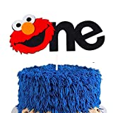 1st Sesame Street Cake Topper Sesame Inspired ONE Birthday Cake Topper Sesame Party Decoration Supplies for Kids Sesame Street Theme Elmo One Birthday Party Felt Cake Topper