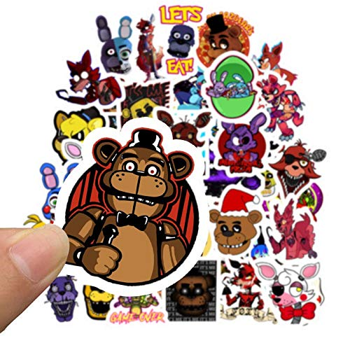 ZXXC Five Nights At Freddy Decal Sticker For Car Laptop Bicycle Notebook Backpack Waterproof Stickers Toy Stickers Gifts 50Pcs/Lot