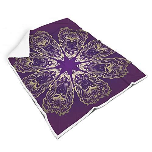 Rinvyintte Lila Mandala Zacht warm dekbed voor bed Voel je zacht voor kinderen of volwassenen, veelzijdige stijl