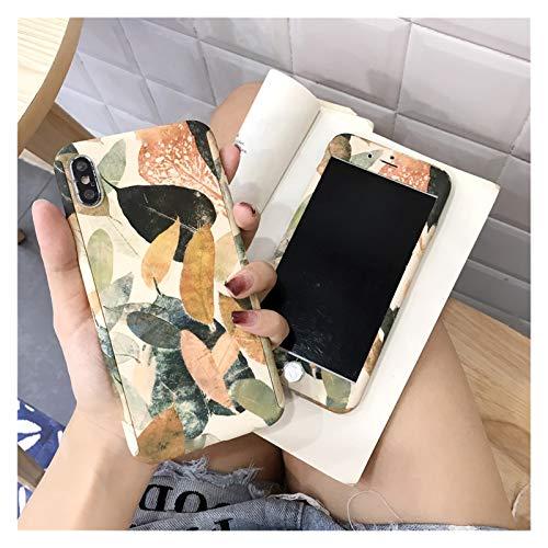 ZWQASP Flower Retro 360 Caja de teléfono de Cuerpo Completo para iPhone 11 Pro XS MAX XR Cubierta de mármol para iPhone 7 8 6 6s Plus x 5 5S 5e Hormiga (Color : 3, Material : For iPhone 11 Pro)