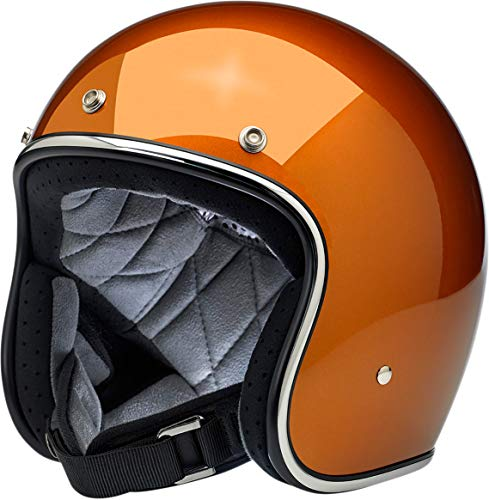 Biltwell Bonanza Solid Men's Open-Face Street Motorcycle Helmet - Gloss Copper/Medium - 1001-311-203
