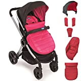 Chicco Urban Color Pack - Set de accesorios: capota + cubrepiernas + calientamanos + kit confort, color rosa