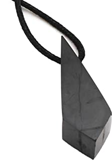 Shungite Stone Pendant, Black Crystal Healing and Protective Jewelry