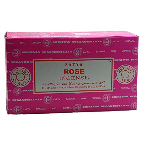 Satya Nag Champa Rose Varitas de Incienso, 12 Unidades