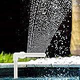 HITECHLIFE Kit de Fuente de Cascada para Piscina, Boquilla de Fuente de Cascada Ajustable de PVC Piscinas de esterilización de Agua SPA Decoraciones de...
