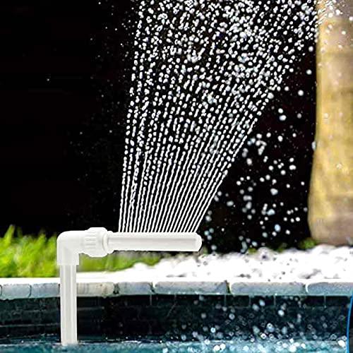 HITECHLIFE Schwimmbad Wasserfall Brunnen Kit, PVC verstellbare Wasserfall Brunnen Düse Wasser Spay Pools Spa Garten Dekorationen Schwimmbad Zubehör