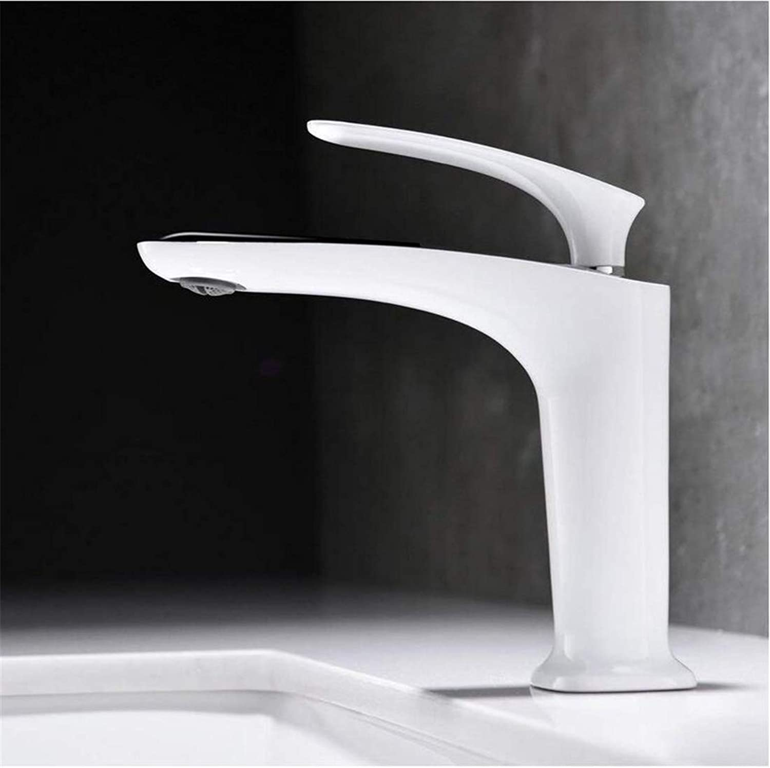 Retro Kitchen Hot and Cold Water 360 Degree redation Hot and Cold Modern Mixer Faucet White Tap for Bathroom Sink 47
