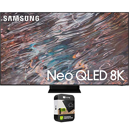 Samsung QN65QN800AFXZA 65 Inch Neo QLED 8K Smart TV 2021 Bundle with Premium 1 Year Extended Protection Plan