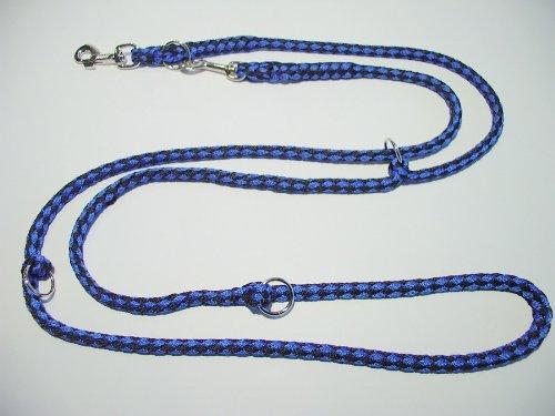 elropet Hundeleine Doppelleine 2,80m 4fach verstellbar schwarz-blau