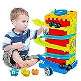 VATOS Baby Auto Rampe Spielzeug für 1 2 3 Jahre altes jungen Mädchen,5 in 1 Multi Race Car Track...