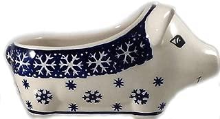 Polish Pottery Salt Pig Bowl in PZ or Snowflake